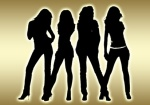 Sexy Golden Girls Silhouette Topmodels